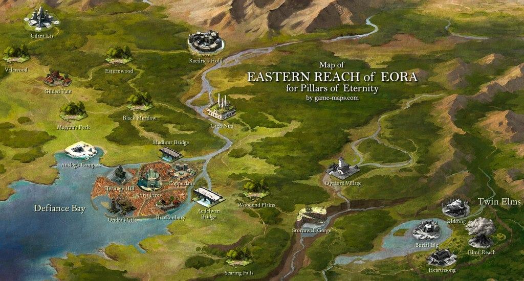 El mapa recurre al mismo modelo que Baldur´s Gate, aunque el mundo es completamente original.