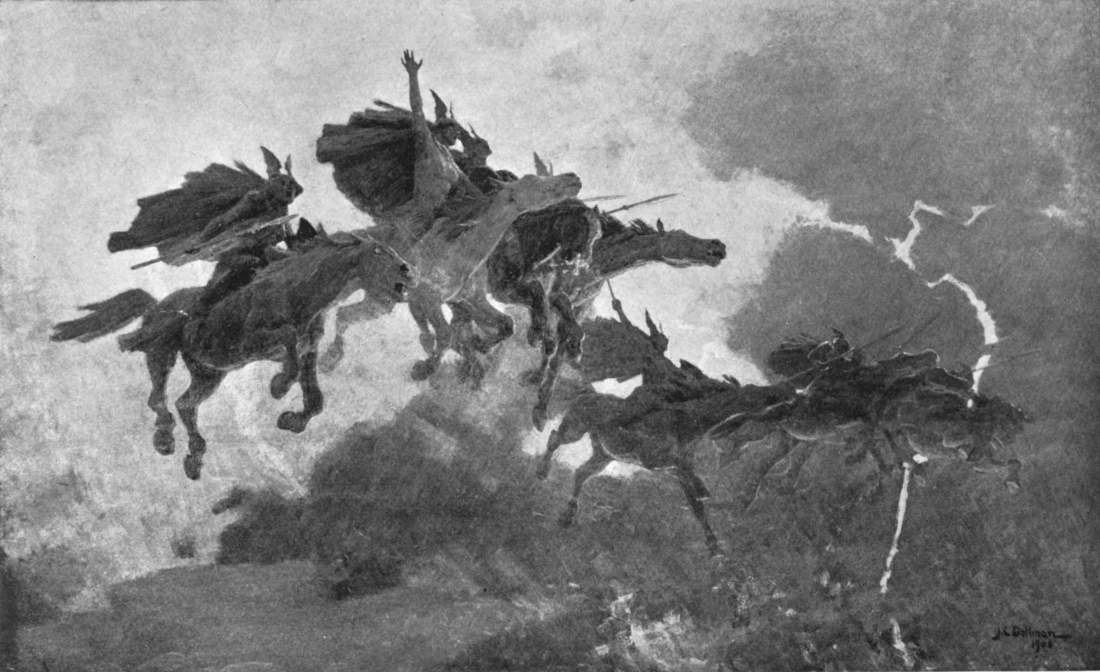 The Ride of the Valkyrs (1909) de John Charles Dollman.