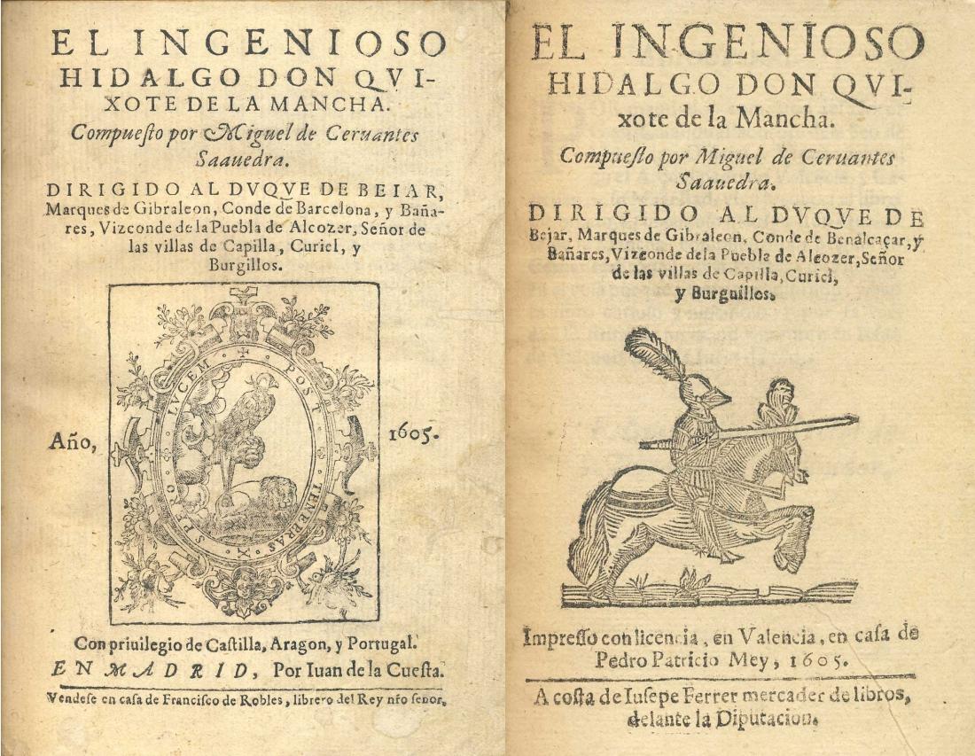 Primera edición del Quijote (1605).